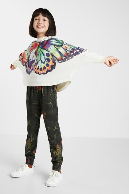 Oversized sweatshirt met vlinder