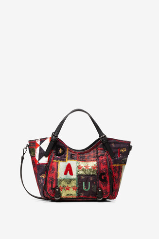 Textures patchwork bag