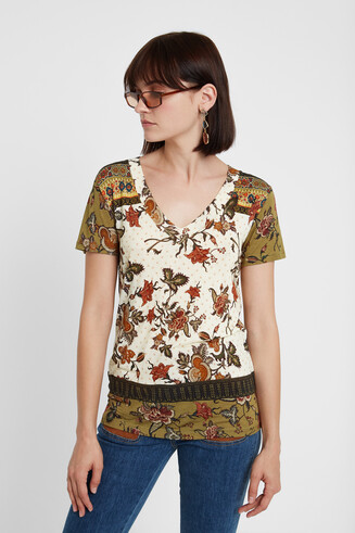Ethnic floral T-shirt