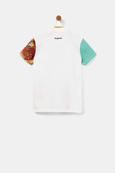 Hawaii polo shirt with post cards | Desigual