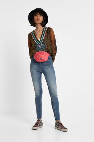 Boho lurex blouse