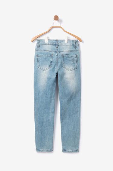 Elastische slim fit jeans met decoratie | Desigual