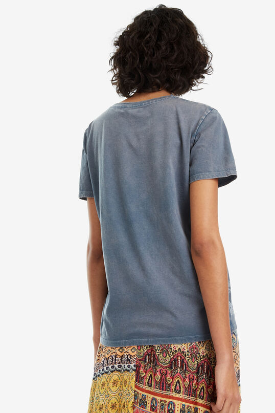 Basic blauw T-shirt washed Berna | Desigual