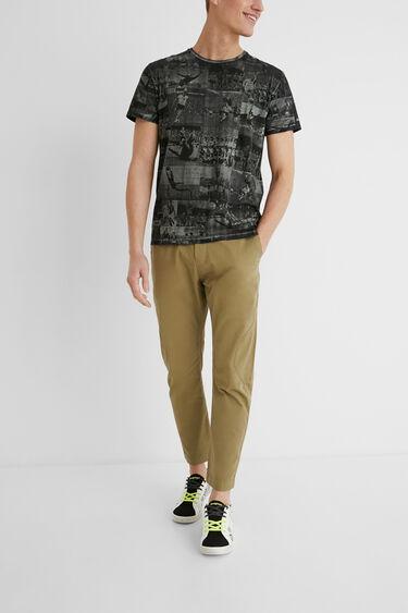 Shirt Regular Fit Postkarten | Desigual