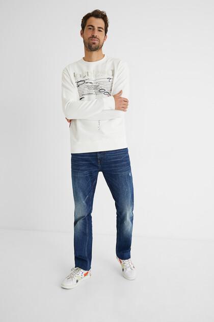 Plush sweatshirt message