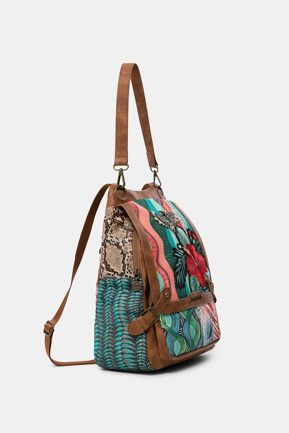 Backpack floral sequins