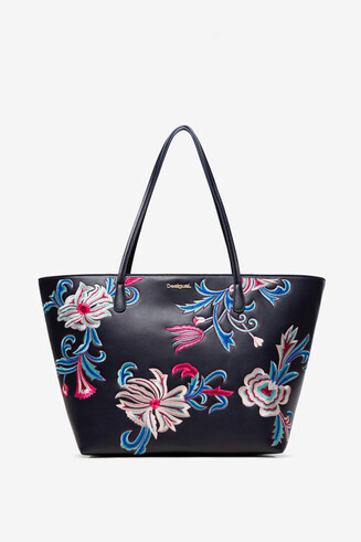 Floral Tote Bag Capri Zipper
