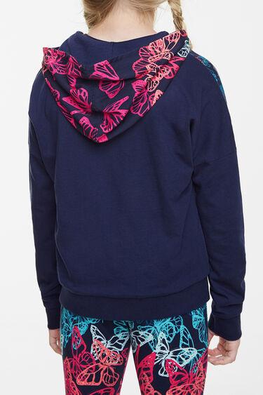 Reversible sweatshirt blue with butterflies | Desigual