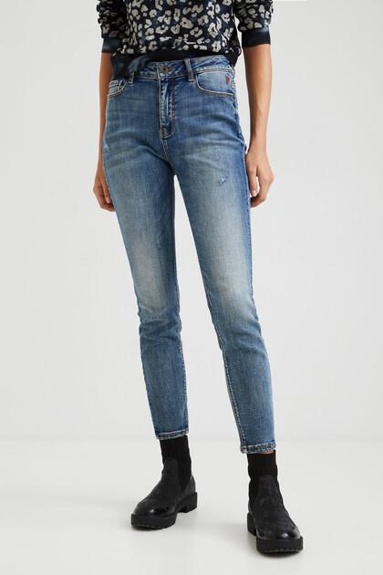 Enkellange skinny jeans