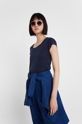 Maglietta blu Basic Petite