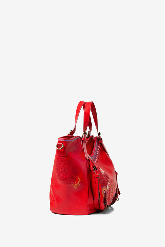 Double handle embroidered bag | Desigual