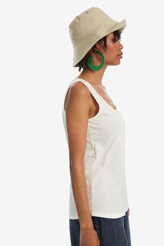 Einfaches Trägershirt mit Ton-in-Ton-Stickerei | Desigual