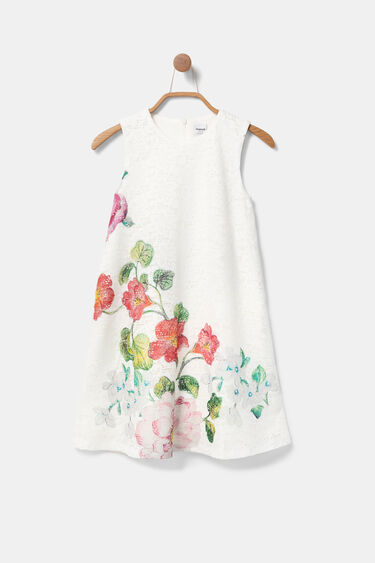Robe dentelle florale | Desigual