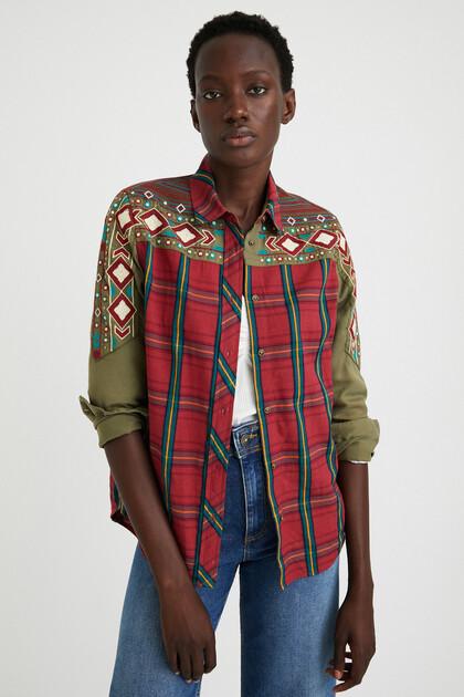 Boho tartan shirt
