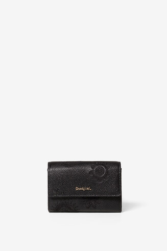 Embossed Flap Purse Dark Amber Alba