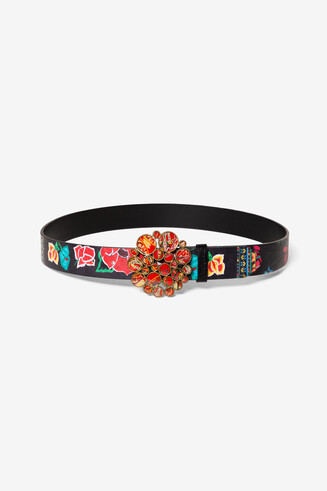 Print Round Buckle Belt Mexico