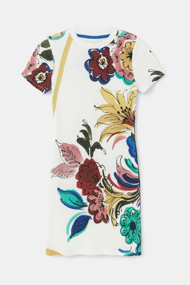 Cotton pinafore dress | Desigual