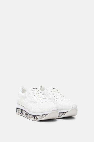 Plateau-Sneakers verzierte Sohle | Desigual