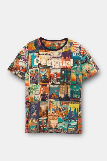 World post card T-shirt   Desigual
