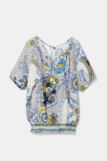 Geometric and floral blouse | Desigual