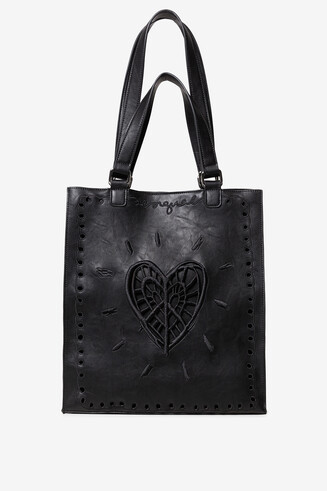 PU leather short handle shopping bag