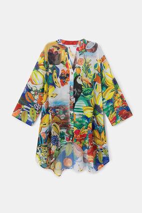 Print bath tunic