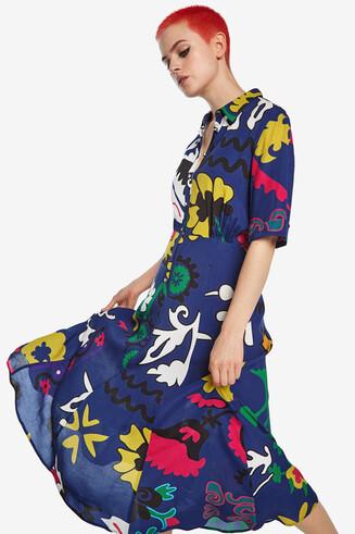 Long arty shirt dress