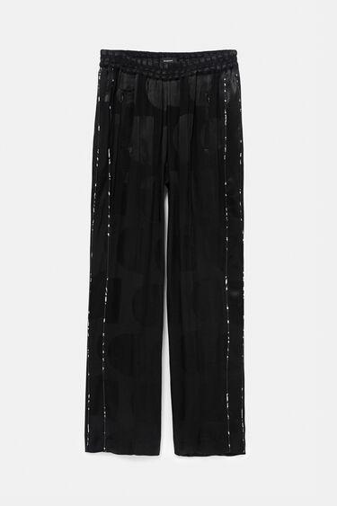 Pantalon en logomania brillant | Desigual