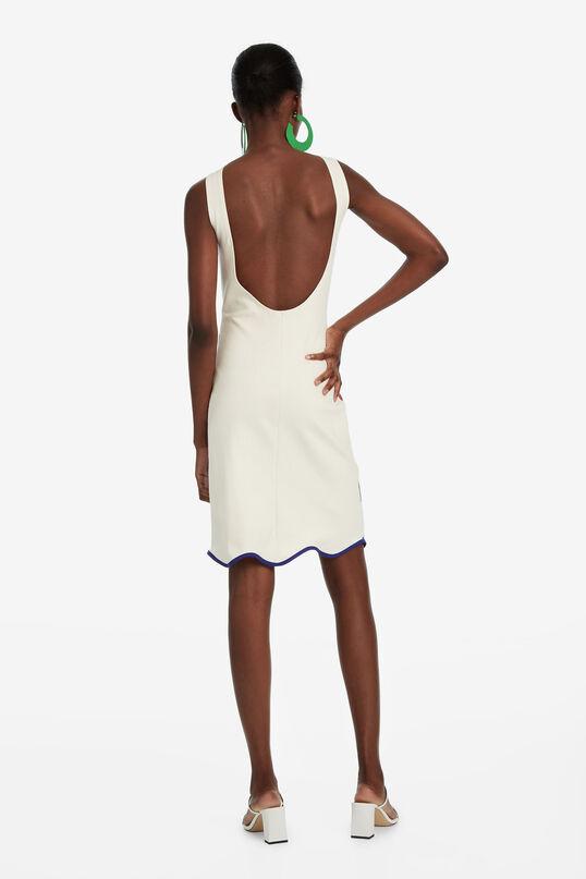 White Dress with Short Skirt Brush | Desigual