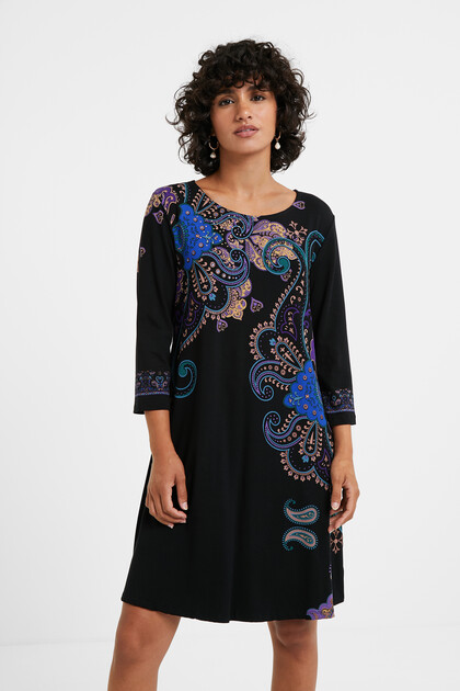 Paisley T-shirt dress