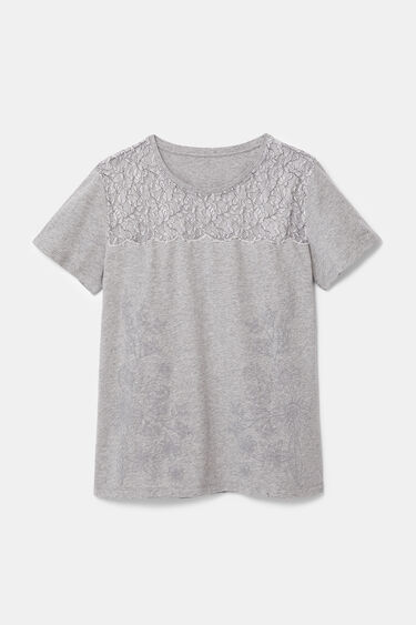 Floral T-shirt with lace | Desigual
