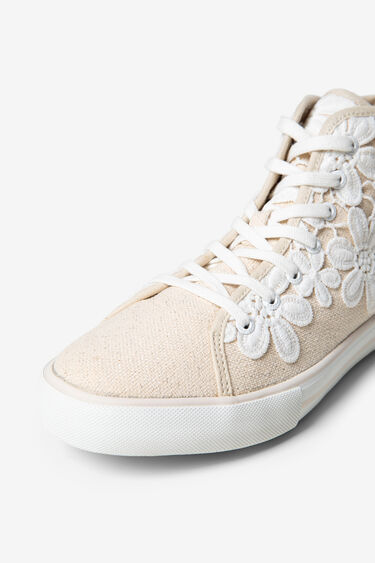 Sneakers with floral crochet | Desigual