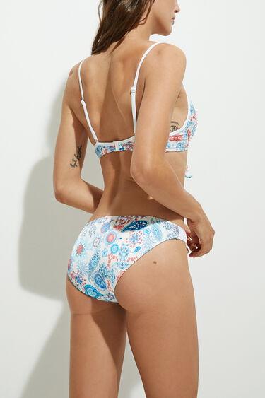 Pleated print bikini bottom | Desigual
