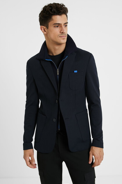 Blazer sporty neck