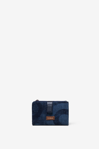Denim mini wallet