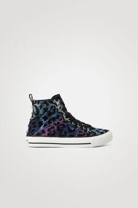 Sneakers montantes léopard