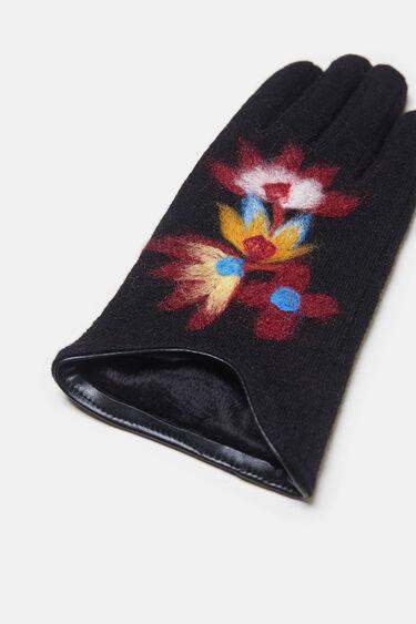 Floral knit gloves | Desigual