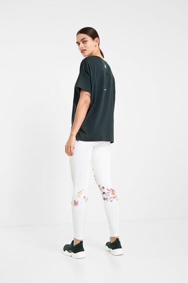 T-shirt manches courtes logo floral | Desigual