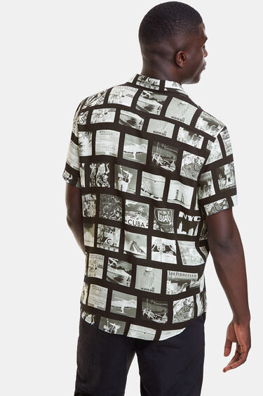 Shirt with photo-postcard | Desigual