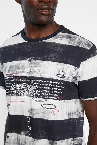 T-shirt rayures 100% coton | Desigual