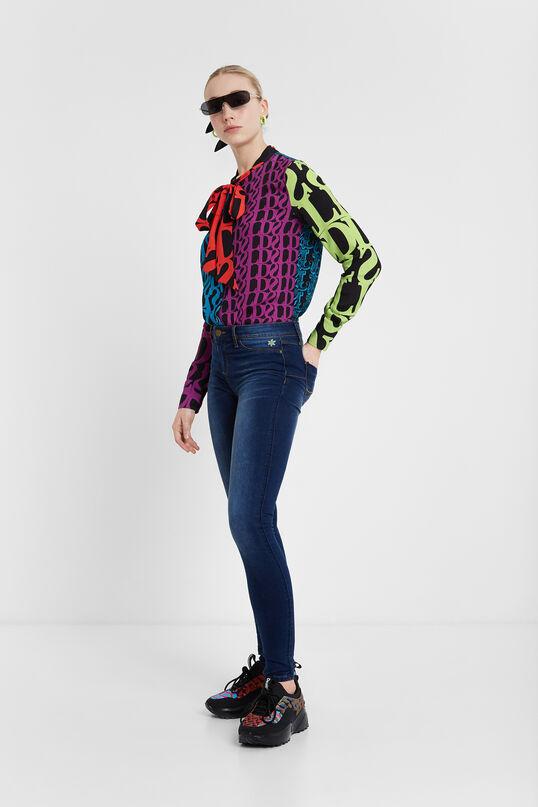 Skinny flower jean trousers   Desigual