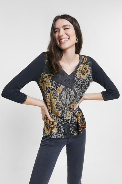 T-shirt floral boho