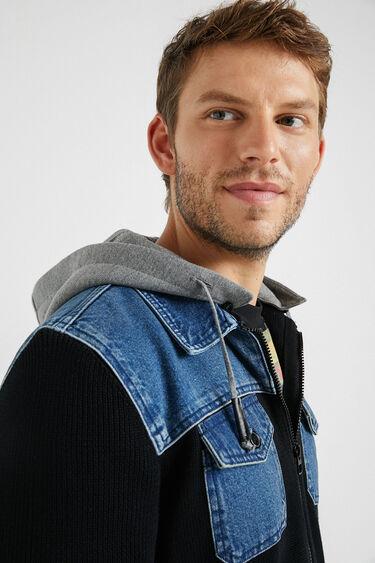 Sweatshirt capuz bimatéria   Desigual