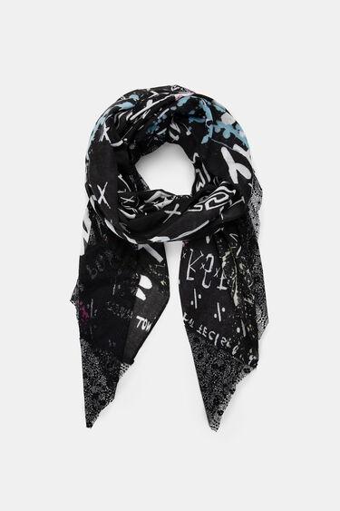Fulard rectangular bimatèria | Desigual