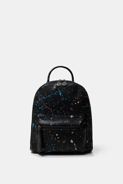 Mini backpack coloured stains