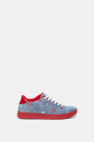 Denim sneakers red sole | Desigual