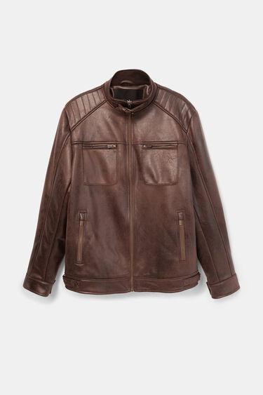 Leather effect jacket   Desigual