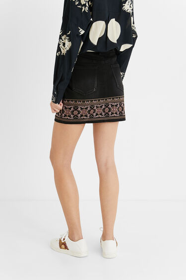 Boho denim mini-skirt | Desigual