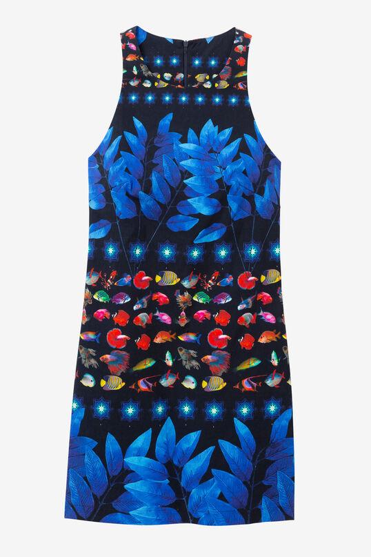 Marine Print Dress Martina | Desigual