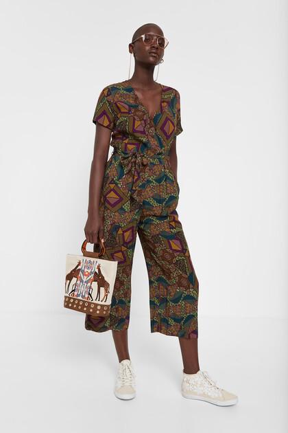 Combinaison imprimé africain géométrique